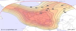 Eutelsat-16A-Europe-B.pokrytie signálom
